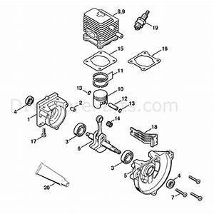 Stihl Fs 85 Brushcutter  Fs85t  Parts Diagram  Crankcase