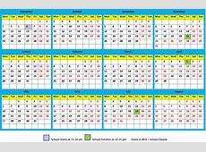 School Calendar 20182019 Maharishi School