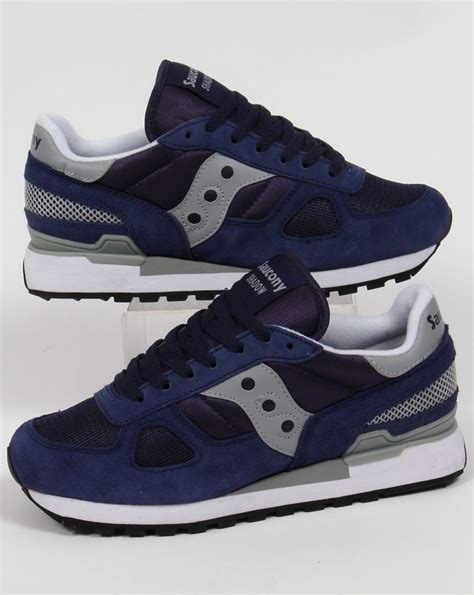 Saucony Shadow Original Trainers Navy/Grey,runners,shoes ...