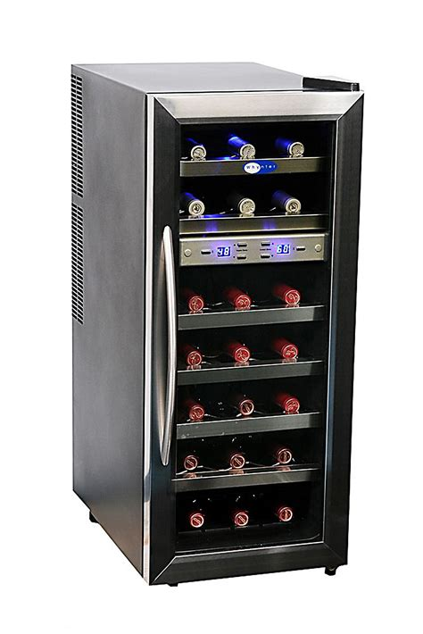 humidity wine cooler whynter stainless steel wine cooler 21 bottle dual