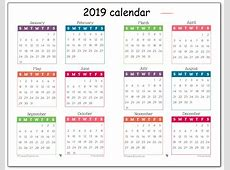 Printable Free 2019 One Page Calendar Printable October