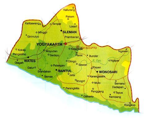 peta yogyakarta lokasi geografis pembagian peta