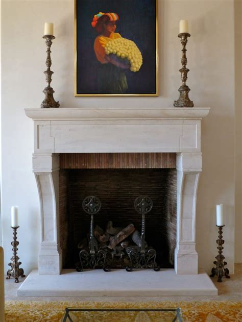 Custom French Provincial Stone Fireplace Mantels | BT