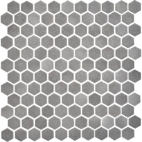 daltile uptown glass mosaics hexagon matte moka floor