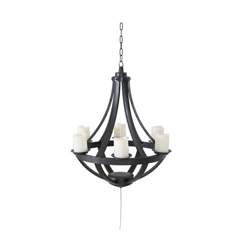 Battery Chandelier by Sunjoy Francis Plastic Hanging Battery Operated Led