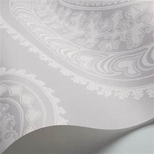 Papier Peint Cole And Son : papier peint oriental gris rajapur cole and son au fil ~ Dailycaller-alerts.com Idées de Décoration