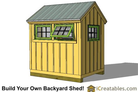 6x8 Storage Shed Plans Free by 6x8 Greenhouse Shed Plans Storage Shed Plans