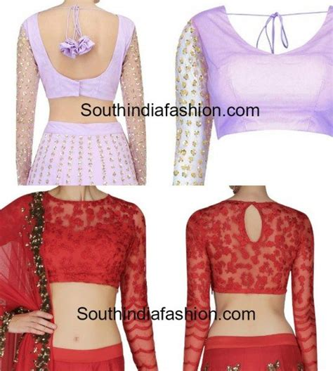 3 4 sleeve embroidered top stunning net blouse designs south india fashion