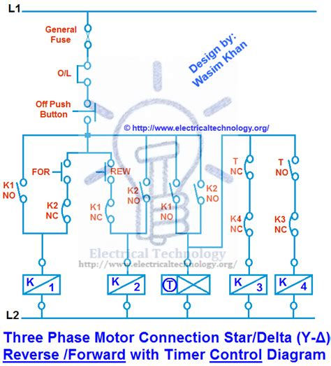 Three Phase Motor Connection Star Delta Reverse