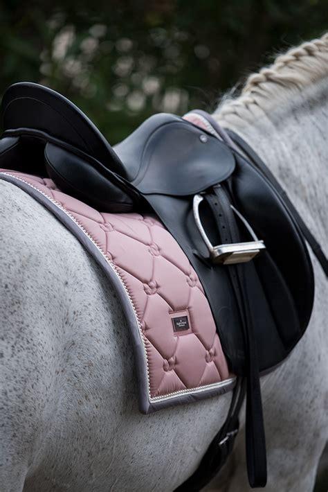 dressage saddle pad pink pearl equestrian stockholm