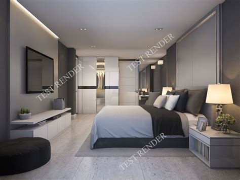 Schlafzimmer 3d by 3d Modern Luxury Modern Bedroom Suite In Hotel With