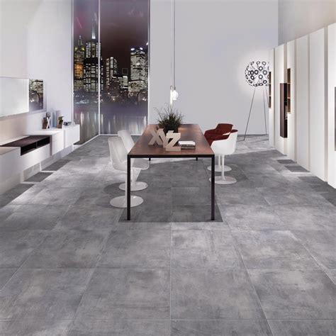 faience grise cuisine carrelage sol aspect béton cenere 60x60 cm