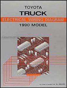 1989 Toyota Pickup Truck Wiring Diagram Manual Original