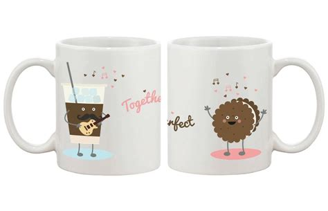 Cute His And Hers Matching Coffee Mug Cup Set