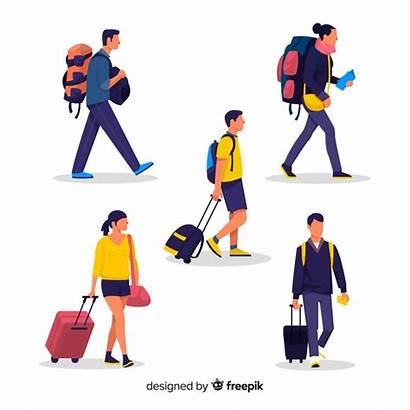 Travel Traveling Bag Freepik Vector Illustration Icon