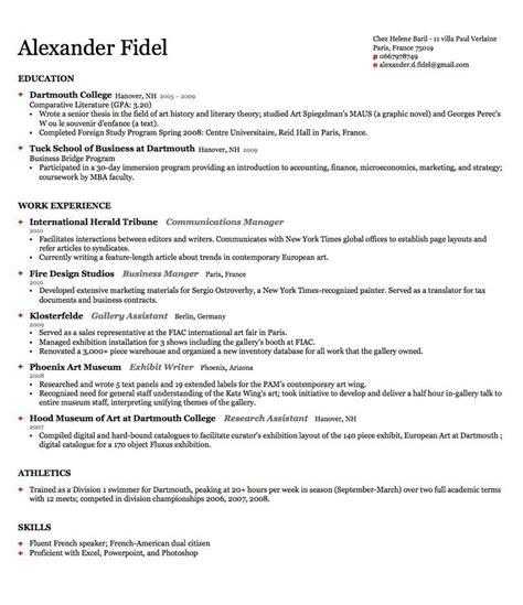 Harvard Business School Resume by Harvard Business School Resume Format Best Resume Collection