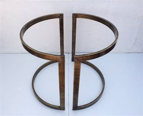 brass dining table base antique brass dining table base by milo baughman at 1stdibs