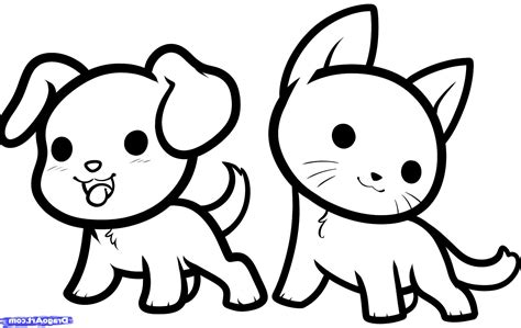 Cute Drawings Animals Coloring Pages Captivating Easy To