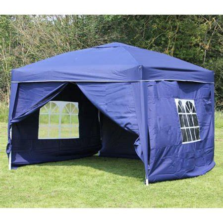 palm springs ez pop  blue canopy gazebo tent   side walls  walmartcom