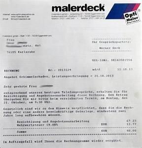 Angebot Rechnung : kostenlos und unverbindlich archives malerdeck ihr opti maler partner aus karlsruhe ~ Themetempest.com Abrechnung