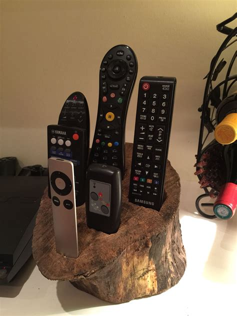 remote control holder    log   remote control holder remote holder man cave