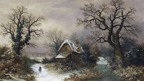 ecran pc bureau tlcharger fond d 39 ecran paysage hiver maison fonds d