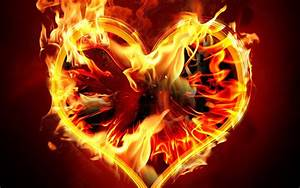 Fire Heart wallpaper hd free download