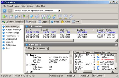 Network Analyzer and Packet Sniffer - CommView