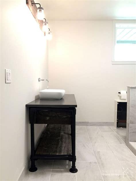 diy rustic bathroom vanity diy rustic bathroom vanity built with pipe kee kl