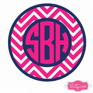 chevron circle monogram decal boutique me With circle monogram