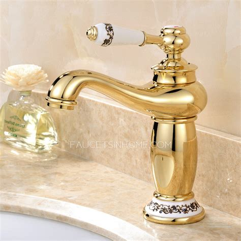 polished brass bathroom faucets single antique gold polished brass single handle bathroom faucet