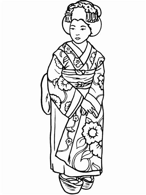 fashion coloring pages japan  coloring pages