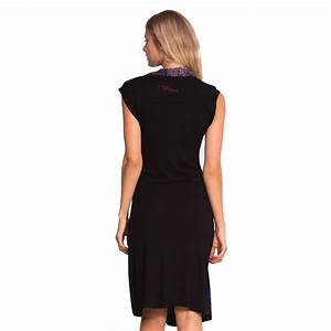 Robe desigual noir longue flor best of bikinis for Robe longue desigual