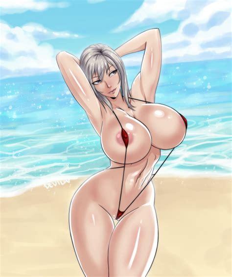 rule 34 aranea highwind arms up beach breasts devil v female final fantasy final fantasy xv