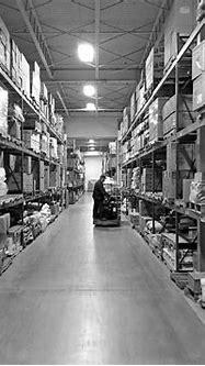 dennis-warehouse-interior-bw - Dennis Paper & Food Service
