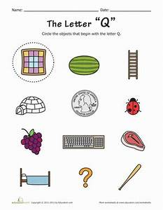 Things that Start with Q! | Worksheet | Education.com