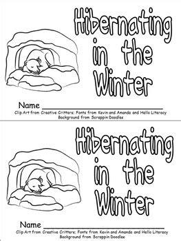 hibernating animals emergent reader for kindergarten winter hibernation