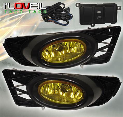 2009 2011 honda civic sedan 4dr jdm yellow lens fog light