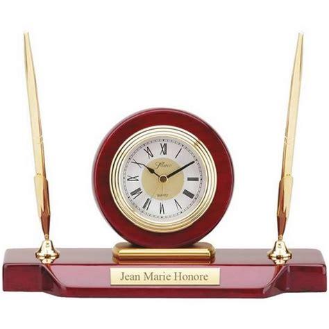 desk clock pen set personalized desk clock with double pen stand