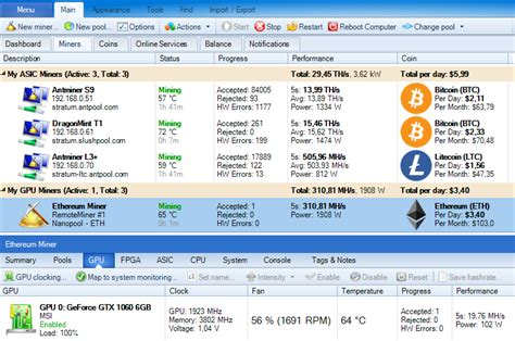 web mining bitcoin awesome miner a windows application to manage and