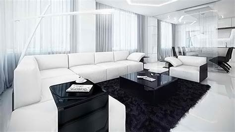 and black living room 20 modern contemporary black and white living rooms home White