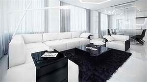 20 modern contemporary black and white living rooms home With black and white living room