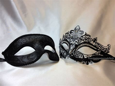 His And Hers Masquerade Mask Pair For Couple Halloween