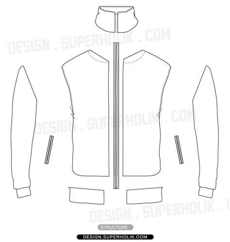 Sports Jacket Template by Track Jacket Template Hellovector