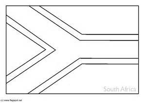 South African Flag Coloring Page