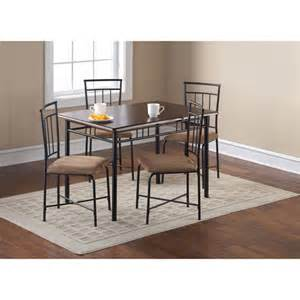 5 piece wood and metal dining set espresso nyfastfurniture