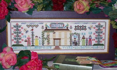 Jane Austen Inspired Cross Stitch Sampler Patterns By The