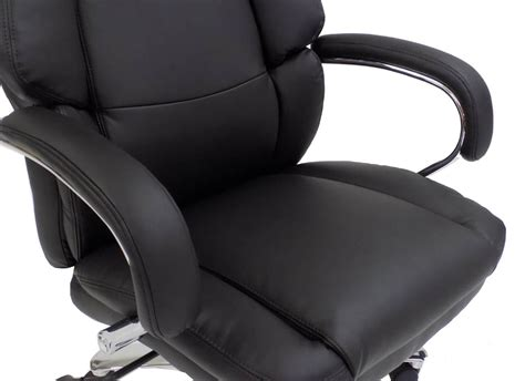 Extra Wide 500 Lbs. Capacity Leather Office Chair W/ 24