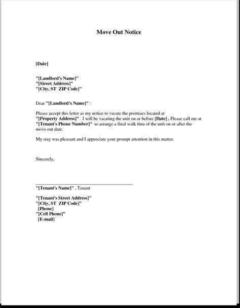landlord letter to tenant moving out letter to landlord articleezinedirectory