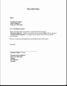 moving out letter to landlord articleezinedirectory With notice to vacate letter to tenant from landlord